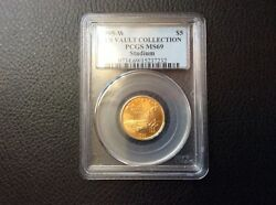 1995-w Olympic Stadium 5 Pcgs Ms69 Us Vault Collection 1995 Commemorative Gold