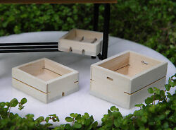Miniature Dollhouse Fairy Garden Set Of 3 Wood Wooden Fruit And Vegetable Crates