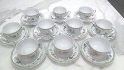 Set Of 10 - Heinrich Villeroy And Boch Indian Summer China Cup And Saucer