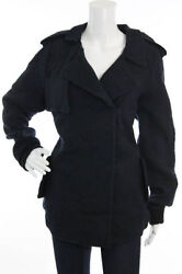 Sold Out, Nwt 2,290 Double Breasted Navy Giacca Jacket By Marni