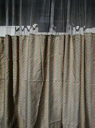 LOT OF 4 - (Pattern D) - HOSPITAL PRIVACYCUBICLE CURTAINS  - FLAME RETARDANT