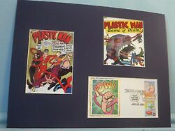 Dc Comic Book Super Hero Plastic Man And The First Day Cover Of His Own Stamp
