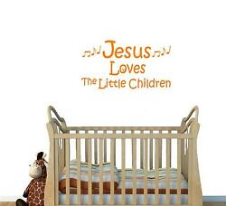 Wall Decal. Nursery Wall Decals. Jesus Loves The Little Children