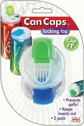 Jokari Can Caps - Lid Fits Beer And Soda Pop Cans - 2 Pack Beverage Top Covers