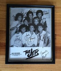 The Jets Picture With All Signatures Rare Nice Around 1986 Mca Records