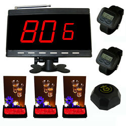 Singcall Wireless Restaurant Pager Systems Receiver And Multi-button Bells Watch
