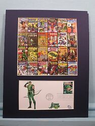 Honoring The Comic Books Of America And First Day Cover For The Green Arrow
