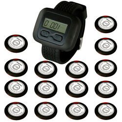 Singcall Wireless Waiter Pager Calling Systems,15 Buttons Bells, 1 Receiver