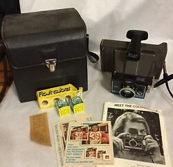 Polaroid Colorpack 2 Ii Instant Land Camera, Case, Flash Bulbs, Book, Clean