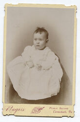 Cabinet Card Baby With Unfortunate Hair. Carmichaels, Pa.