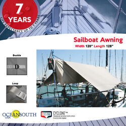 Oceansouth Sailboat Awning 120 Width X 128 Length Water And Uv Resistant