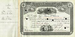 Usa Frontier National Bank Stock Certificate 1901......maine