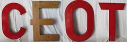 Large 36 Tall Vintage Solid Wood Cypress Letters