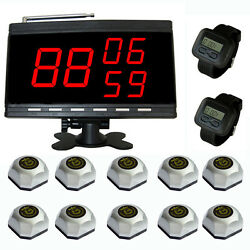 Singcall Wireless Nurse Calling System Paging System 10 Bells 2 Watches 1 Screen