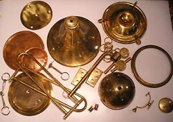 Old Vintage Different Brass Lamp Parts Holder Finial And More Than 5 Kg