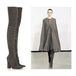 Gorgeous, Super Rare, Sexy New 2,225 Halston Taupe Thigh High Suede Boots