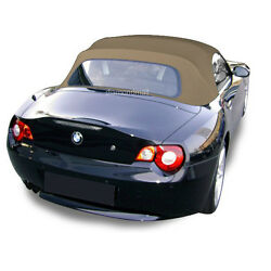Bmw Z4 2003-2008 Convertible Soft Top Replacement And Glass Window Tan Stayfast