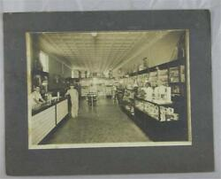 Vintage Photograph Looks 1930's Drug Store Cigar Boxes Soda Fountain Battery