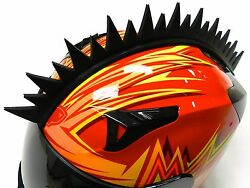 Stick-on Uneven Saw Blade Spikes Mohawk Strip For Motorcycle Bike Helmets C