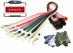 Red Staff Identity Card With Lanyard Plus Id Card Holder - Choice Of Colour