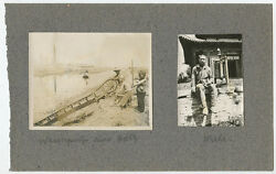 Vintage Outdoor Photos Asian Boys/men Working By River/sitting On Wall Ided