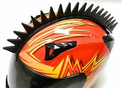 Stick-on Even Saw Blade Spikes Mohawk Strip For Motorcycle Bike Helmets E