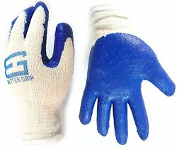 Wholesale 6000 Pairs Better Grip Premium Blue Latex Dipped Work Gloves-BGEBLU