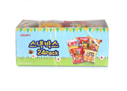 Crown Snack Box 24pack Korean Mini Snack Collection