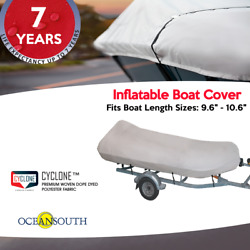 Heavy Duty Inflatable Boat Dinghy/tender Cover Fits Boats 9and0396-10and0396