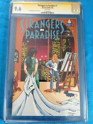 Strangers In Paradise V2 1 - Abstract - Cgc Ss 9.6 Nm+ - Signed By Terry Moore