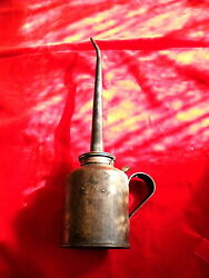 Antique 1912 Eagle Oil Can- Long Spout 14 Inches Gas Station Garage