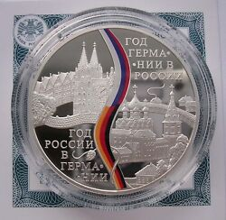 Russland 3 Rubel -germany In Russian Federation - 2013pp Proof,silber