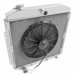 3 Row Radex Radiator And Fan Combo For 53-56 Ford Truck
