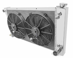 3 Row Radex Radiator And Fan Combo For 70-72 Chevy Truck 28 Core