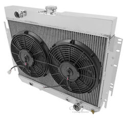 3 Row Radex Radiator And Fan Combo For 63-68 Gm Impala/bel Air/chevelle