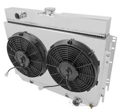 3 Row Radex Radiawith Fans And Fan Shroud For 63-68 Gm Impala/bel Air/chevelle