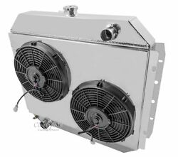 3 Row Radex Radiator With Fans And Fan Shroud For 68-79 Ford F-series/bronco
