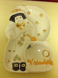 Lenox Occasions Halloween Witch Divided Server 6340087, Nib