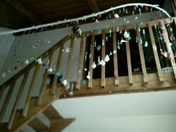 Hanging Mobile Art Sea Shells, Natural Stones, Crystals, Etched Glass