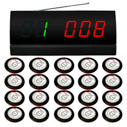 Singcall Wireless Service Pager Calling System For Coffee Shop 1 Screen,20 Bells