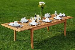 Atnas Grade-a Teak Wood 122 Rectangle Double Extension Dining Table New