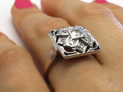 0.70 Carat Total Weight Floral Engagement Ring