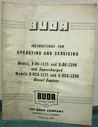 Buda Diesel Operating And Service Supercharged And Diesel Manual No. 1427-a