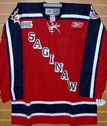 Saginaw Spirit Chl Authentic Reebok On Ice Game Issued Red Hockey Jersey 56