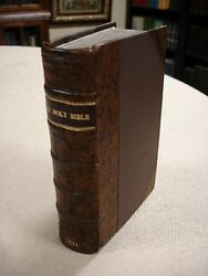 1638 - Holy Bible - Barker And Bill - Roman Letter King James- Octavo Size