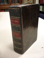 1657- Holy Bible- Printed By John Field At Cambridge University-both Title Pages