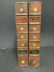 1798 -2 Vol 1st Ed Hot Press Bible By Thompson And Small -- First American Edition