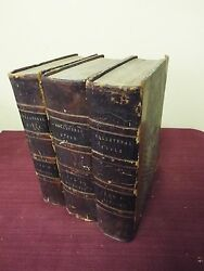 1826 The Collateral Bible - Old Testament - 3 Volumes- Very Scarce And Rare