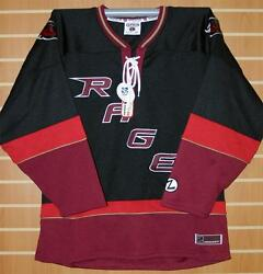 Rocky Mountain Rage Chl Zephyr Authentic On Ice Game Issued Black Hockey Jersey