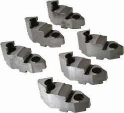 Bison Lathe Chuck Hard Top Jaw For Scroll 16 In 6-jaw 6 Piece Set 7-883-616
